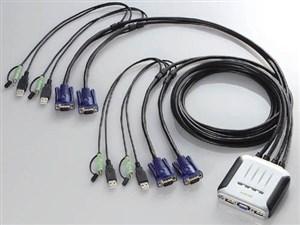 エレコム USBパソコン切替器 KVM-KU4