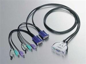 エレコム PS/2パソコン切替器 KVM-KP2