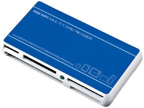 サンワサプライ USB2.0デュアルバスカードリーダライタ -BL ブルー ADR-DMLT2・・・