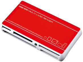 ADR-DMLT27R サンワサプライ USB2.0デュアルバスカードリーダライタ -R レッ・・・