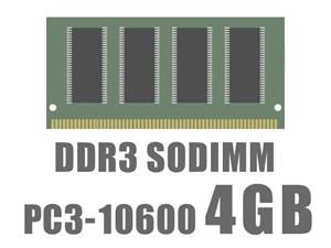 SODIMM DDR3 PC3-10600 4GB バルク