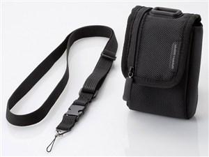 ELECOM DGB-056BK ブラック [首ひも付デジタルカメラケース(面ファスナータイ・・・