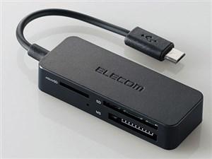 エレコム メモリリーダライタ/スマホ・タブレット用/microBケーブル/SD+micro・・・