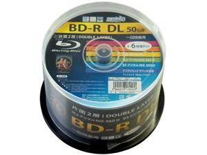 磁気研究所 ハイディスク 録画用BD-R DL 50GB HDBDRDL260RP50 50枚入 4984279・・・