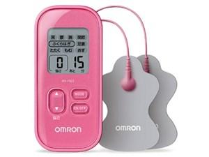 オムロン 低周波治療器 ピンク HV-F021-PK コンパクト 簡単操作 15段階調節 ・・・