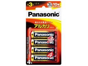 【パナソニック】アルカリ乾電池単三形4本入り【ブリスター包装】LR6XJ/・・・