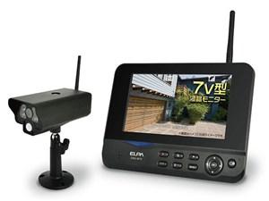 [新品][送料無料] エルパ ワイヤレスカメラ&モニター CMS-7001 モニターとカ・・・