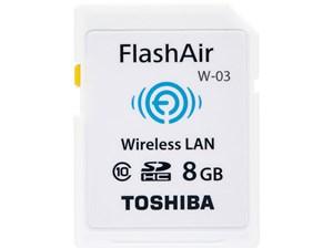 TOSHIBA 無線LAN搭載 FlashAir SDHCカード 8GB Class10 日本製 SD-WE008G
