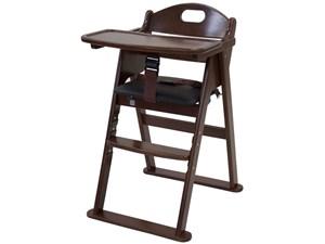木製ワイドハイチェア 22409 [ブラウン] 商品画像1:SMART1-SHOP