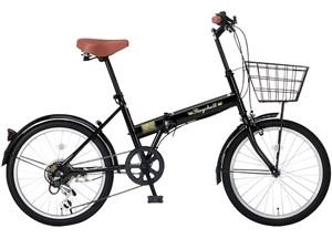 Raychell FB-206R-ブラック(24212) [折りたたみ自転車(20インチ・6段変速)]