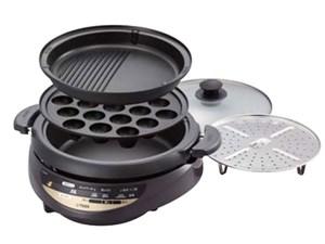 タイガー グリル鍋 3.7L ブラウン CQG-B300-T