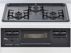 リンナイ ビルトインコンロ Metal メタルトップシリーズ RS31M4H2S-BW 13A 都市ガス用  60cmタイプ 3V乾電池使用 商品画像1:オンラインショップ プライズ