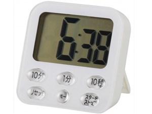 オーム電機 時計付き大画面 デジタルタイマー ホワイト COK-T140-W 1コ入 497・・・
