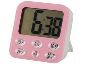 オーム電機 時計付き大画面 デジタルタイマー ピンク COK-T140-P 1コ入 49712・・・