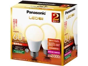 パナソニック LED電球 7.8W 2個入(電球色相当) LDA8LGK60ESW2T 商品画像1:激安家電パレット