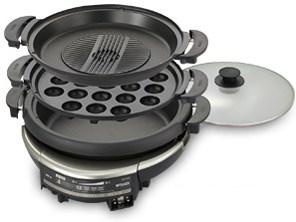 タイガー グリル鍋 5.0L プレート 3枚 タイプ 深鍋 たこ焼き 焼肉 プレート ・・・