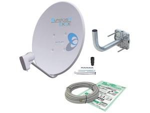 DXアンテナ【4K・8K対応】45形BS・110°CSアンテナ (金具、ケーブル付き) B・・・