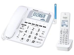 Panasonic コードレス電話機 (子機1台) VE-GE10DL-W