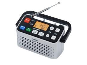 ツインバード TWINBIRD 手元スピーカー機能付3バンドラジオ シルバー AV-J127・・・