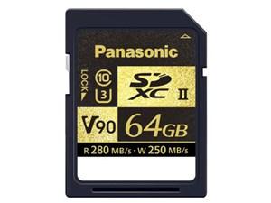 Panasonic製 SDXC UHS-II メモリーカード RP-SDZA64GJK 64GB