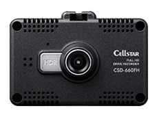CELLSTAR 2.4インチ タッチパネル搭載ドライブレコーダー CSD-660FH
