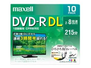 マクセル DVDRDL120 ひろびろ美白レーベルCPRM対応 片面2層10枚パック DRD215・・・