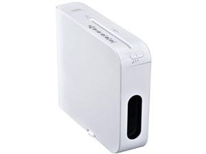 オーム電機 マイクロカットスリムシュレッダー SHR-MX700-W