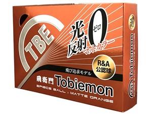 T-B2MO ゴルフボール TOBIEMON マットオレンジ