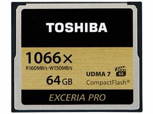 東芝 コンパクトフラッシュカード 「EXCERIA PRO」 64GB CF-AX064G