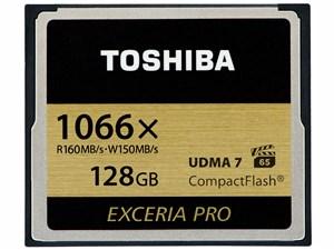 東芝 コンパクトフラッシュカード 「EXCERIA PRO」 128GB CF-AX128G