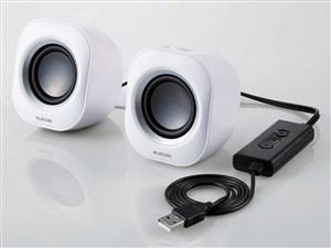 エレコム コンパクトスピーカ/4W/USB/ホワイト MS-P08USBWH