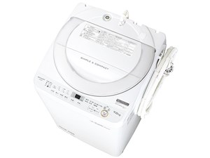シャープ 7.0kg 全自動洗濯機 穴なし槽 ホワイト系 ES-GE7B-W