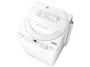 シャープ SHARP 全自動洗濯機 ステンレス穴なし槽 6kg ホワイト ES-GE6B-W 商品画像1:GBFT Online