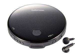 オーム電機 AudioComm ポータブルCDプレーヤー ブラック CDP-820Z-K