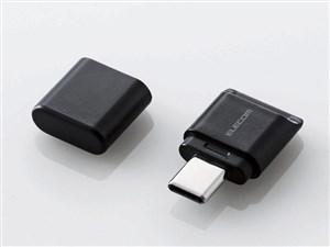 エレコム メモリリーダライタ/Type-Cコネクタ/直挿しタイプ/microSD専用/ブラ・・・