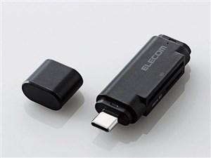 エレコム メモリリーダライタ/Type-Cコネクタ/直挿しタイプ/SD+microSD用/ブ・・・