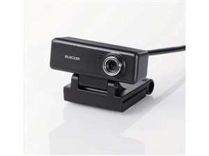 エレコム PCカメラ/200万画素/マイク内蔵/高精細ガラスレンズ/ブラック UCAM-・・・