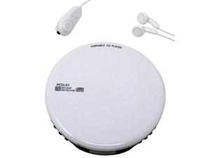 WINTECH ポータブルCDプレーヤー(ホワイト) PCD-51