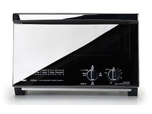 TWINBIRD ミラー ガラスオーブントースター TS-4047W ホワイト
