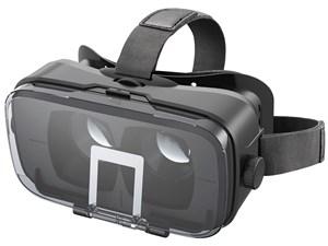 エレコム VRグラス/デュアルレンズ/多機能色収差補正/ブラック P-VRGR03BK