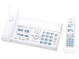 Panasonic コードレス普通紙ファクス 子機1台付き KX-PD515DL-W ホワイト