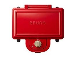 BRUNO ホットサンドメーカー ダブル BOE044-RD [レッド]