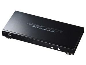 サンワサプライ SW-UHD62 HDMI切替器 6入力2出力 マトリックス切替機能付き