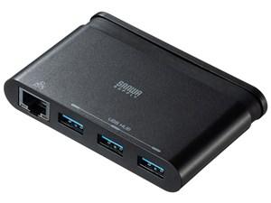 サンワサプライ LANアダプタ付きUSB Type-Cハブ USB-3TCH10BK