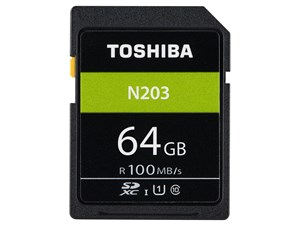 TOSHIBA製 SDHC/SDXCメモリカード Class10 64GB SD-LU064G