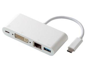 エレコム Type-Cドッキングステーション/PD対応/充電用Type-C1ポート/USB(3.0・・・
