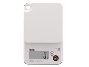 タニタ デジタルクッキングスケール (2kg) ホワイト KW201WH-WH