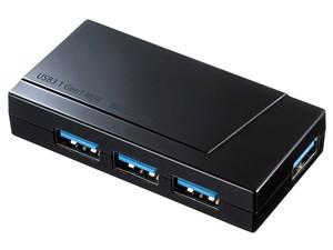 サンワサプライ USB-3H418BK USB3.1 Gen1 4ポートハブ
