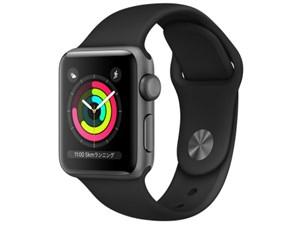 Apple Watch Series 3 GPSモデル 38mm MTF02J/A [ブラックスポーツバンド]