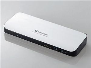 ELECOM ThunderBolt3 PD対応 ドッキングステーション DST-TB301SV シルバー
